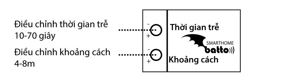 Cách điều chỉnh thời gian trễ và khoảng cách cảm ứng