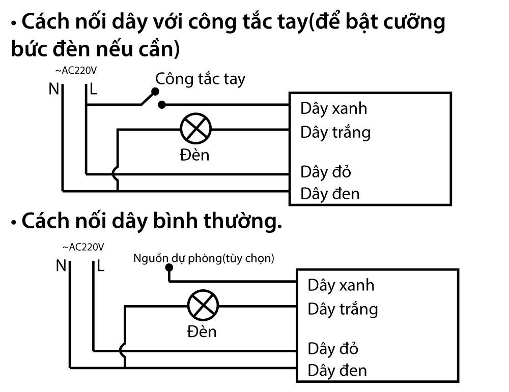 Cách nối dây công tắc cảm biến chuyển động BT-ARSV2