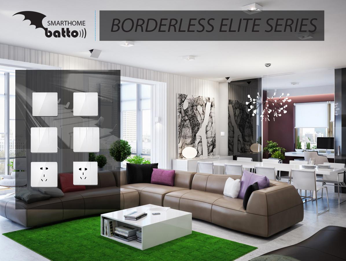 Công tắc thông minh không viền Borderless Elite Series