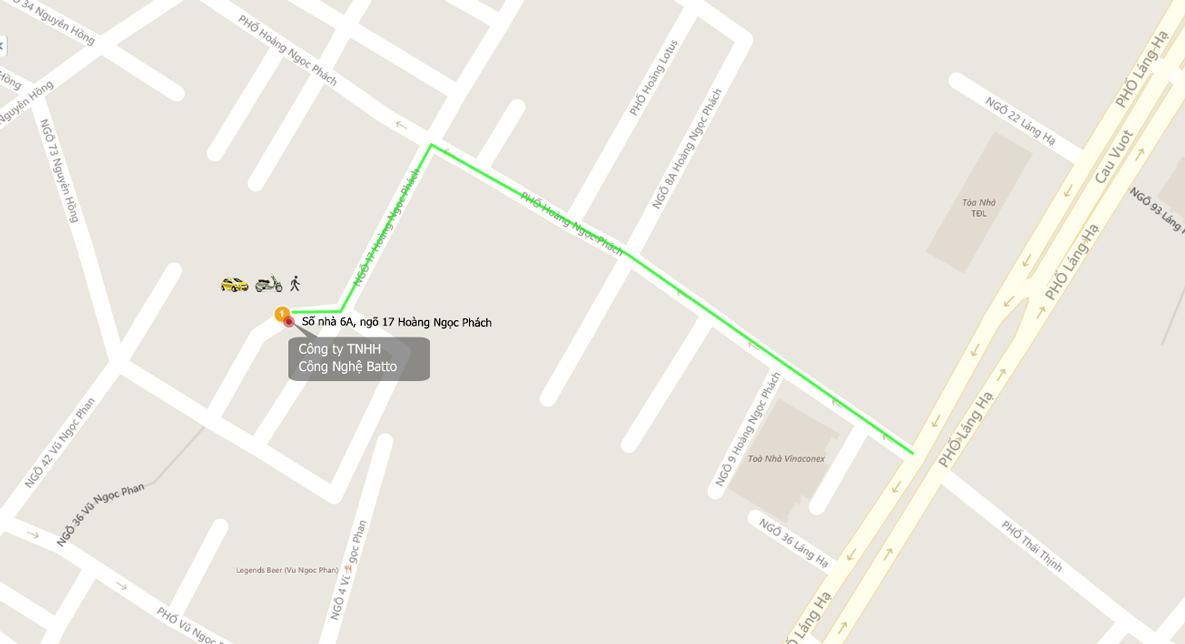 Bản đồ tới Batto Smarthome