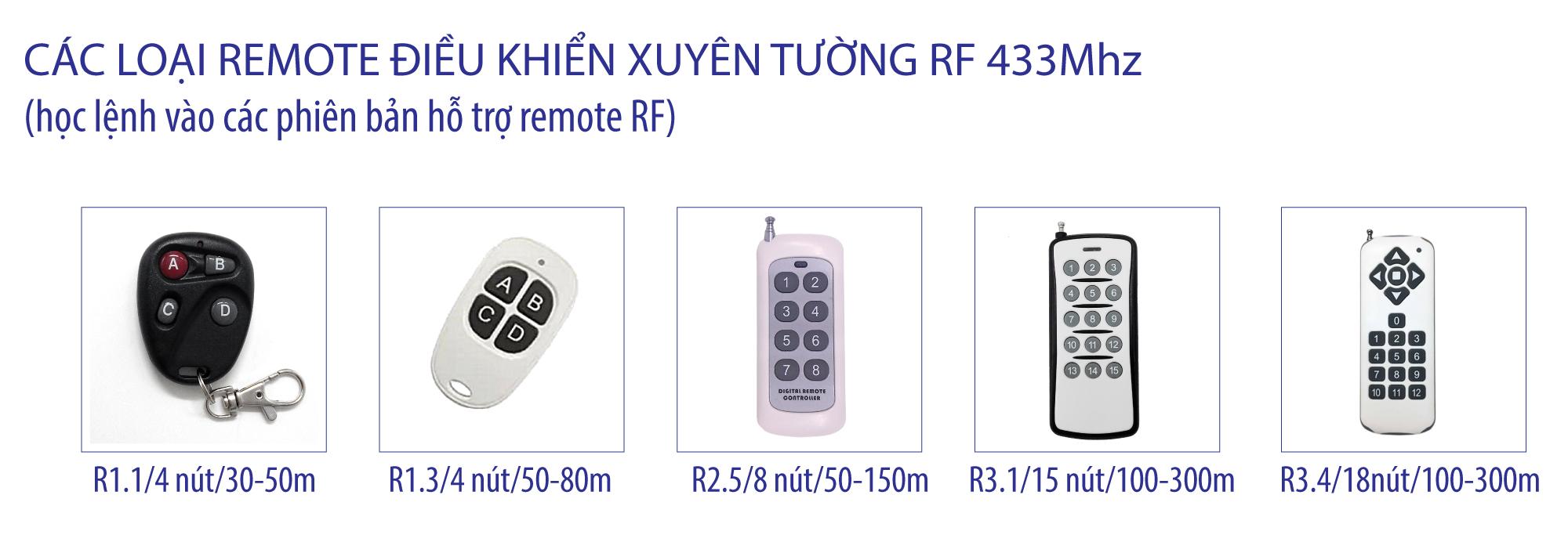 Các loại remote dùng với SmartX